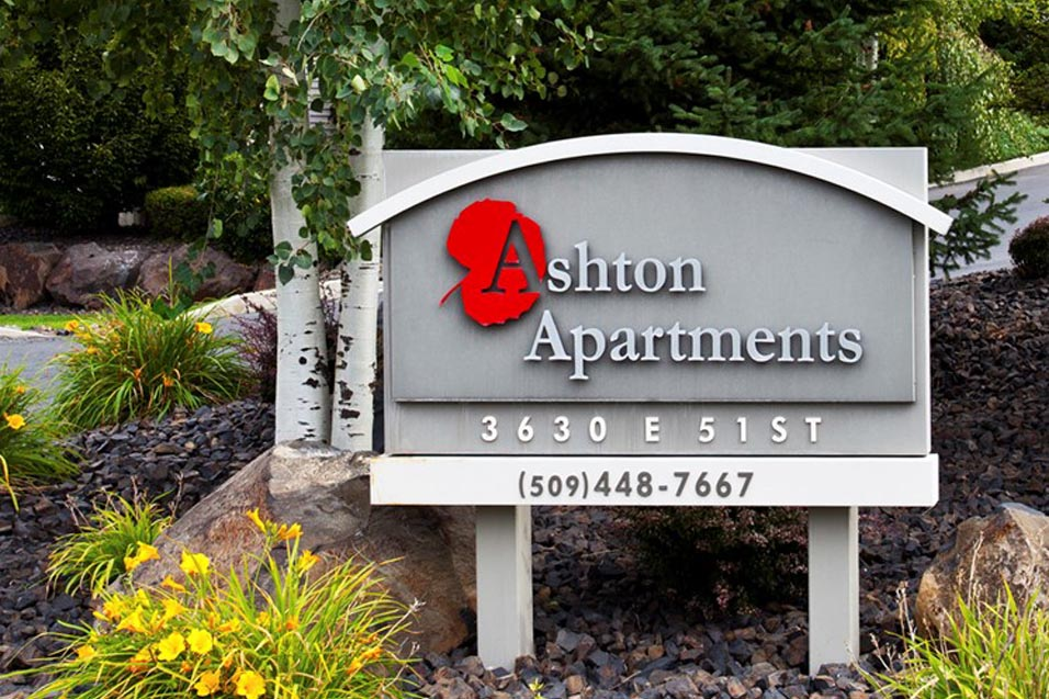 Spokane, WA Ashton Apartments sign